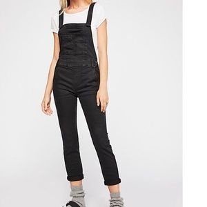 Washed Denim Overall Black Size 26 Free People